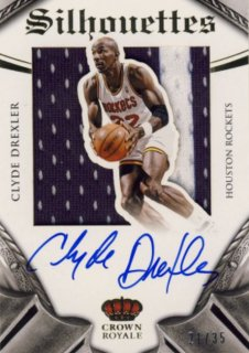 2014-15 PANINI PREFERRED Silhouettes Jersey Auto Clude Drexler 【35枚限定】Rookie Star RS9様