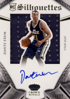 2014-15 PANINI PREFERRED Silhouettes Jersey Auto Dante Exum 【99枚限定】Rookie Star RS9様