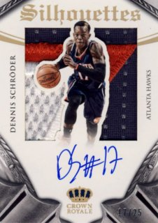 2014-15 PANINI PREFERRED Silhouettes Patch Auto Dennis Schroder【 25枚限定】Rookie Star RS9様