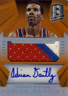 2014-15 PANINI SPECTRA Orange Patch Auto Adrian Dantley 【25枚限定】Rookie Star RS9様