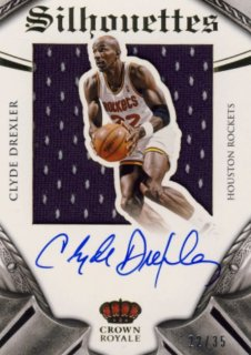 2014-15 PANINI PREFERRED Silhouettes Jersey Auto Clude Drexler【35枚限定】 Rookie Star RS12様
