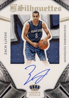 2014-15 PANINI PREFERRED Silhouettes Patch Auto Zach LaVine【25枚限定】 Rookie Star RS12様