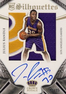 2014-15 PANINI PREFERRED Silhouettes Patch Auto Julius Randle 【25枚限定】Rookie Star RS21様