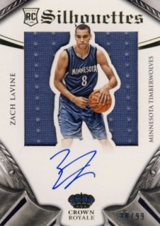 2014-15 PANINI PREFERRED Silhouettes Jersey Auto Zach LaVine【99枚限定】 Rookie Star RS22様
