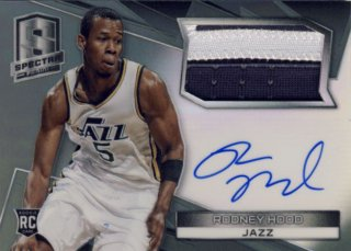 2014-15 PANINI SPECTRA Black Patch Rodney Hood 【1枚限定】Rookie Star RS29様