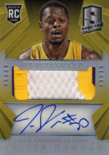 2014-15 PANINI SPECTRA Gold Patch Auto Julius Randle 【10枚限定】Rookie Star RS29様