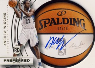 2014-15 PANINI PREFERRED Gold Auto Andrew Wiggins 【10枚限定】Rookie Star RS9様