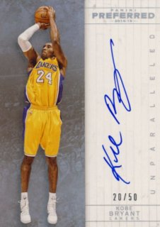 2014-15 PANINI PREFERRED Auto Kobe Bryant 【50枚限定】Rookie Star RS47様