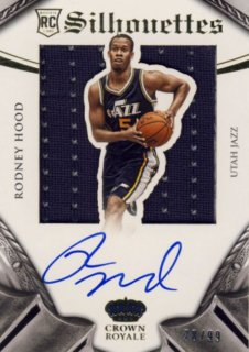 2014-15 PANINI PREFERRED Silhouettes Jersey Auto Rodney Hood【99枚限定】 Rookie Star RS47様