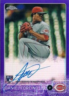 2015 Topps Chrome Rookie Autographs Purple Refractors Daniel Corcino 【250枚限定】 / MINT新宿店014 とみち様