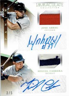2015 PANINI IMMACULATE CLLECTION J.ABREU&M.CABRERA 【5枚限定】 立川店 TEN様