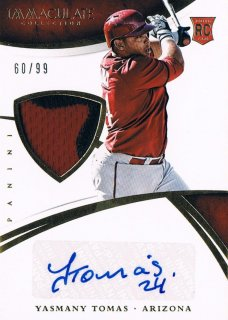 2015 PANINI IMMACULATE COLLECTION Prime Rookie Material Auto Yasmany Tomas 【99枚限定】 渋谷店 きたさん様