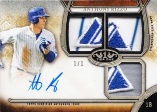 2015 Topps Tier One Anthony Rizzo Autographed Relic Triple Patch 1/1【1枚限定】MINT札幌店 D先生様