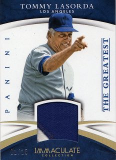 2015 PANINI  IMMACULATE COLLECTION  The Greatest Material Tommy Lasorda [1of15]/ミントJAC小田原店/マーくん