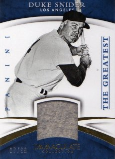 2015 PANINI  IMMACULATE COLLECTION The Greatest Material Duke Snider [99枚限定]/ミントJAC小田原店/マーくん
