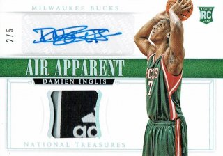 14-15 NATIONAL TREASURES Tag Auto Damien Inglis【5枚限定】えびすスポーツカード CP2様