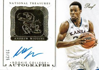 14-15 NATIONAL TREASURES Gold Auto Andrew Wiggins【25枚限定】えびすスポーツカード CP2様