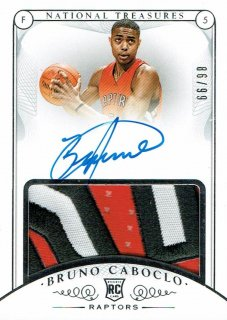 14-15 NATIONAL TREASURES Patch Auto Bruno Caboclo【99枚限定】えびすスポーツカード CP2様