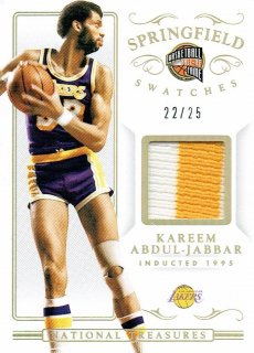 14-15 NATIONAL TREASURES Patch Kareem Abdul-Jabbar【25枚限定】えびすスポーツカード CP4様