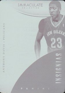 14-15 NATIONAL TREASURES Plate Anthony Davis【1枚限定】えびすスポーツカード CP4様