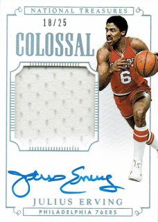 14-15 NATIONAL TREASURES Jersey Auto Julius Erving【25枚限定】えびすスポーツカード CP4様