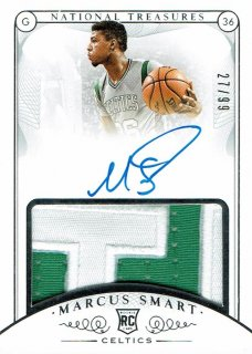 14-15 NATIONAL TREASURES Patch Auto Marcus Smart【99枚限定】えびすスポーツカード Kuma様