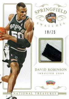 14-15 NATIONAL TREASURES Patch David Robinson【25枚限定】えびすスポーツカード Kuma様
