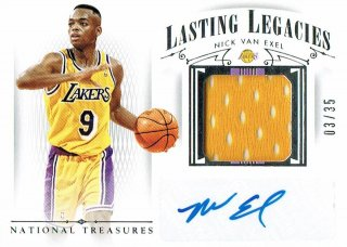 14-15 NATIONAL TREASURES Jersey Auto Nick Van Exel【25枚限定】えびすスポーツカード Kuma様