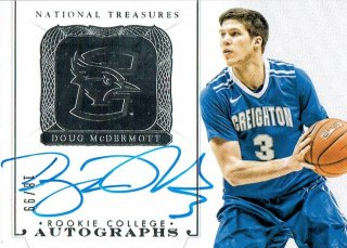 14-15 NATIONAL TREASURES Auto Doug McDermott【99枚限定】えびすスポーツカード Kuma様