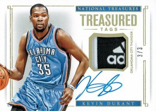 14-15 NATIONAL TREASURES Tag Auto Kevin Durant【3枚限定】えびすスポーツカード Kuma様