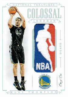 14-15 NATIONAL TREASURES Logoman Patch Klay Thompson【1枚限定】えびすスポーツカード Kuma様