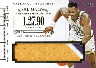 14-15 NATIONAL TREASURES Patch Karl Malone【25枚限定】えびすスポーツカード CP5様