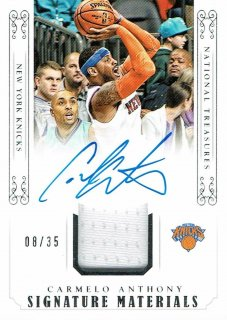 14-15 NATIONAL TREASURES Jersey Auto Carmelo Anthony【35枚限定】えびすスポーツカード CP3様