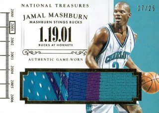 14-15 NATIONAL TREASURES Patch Jamal Mashburn【25枚限定】えびすスポーツカード CP3様