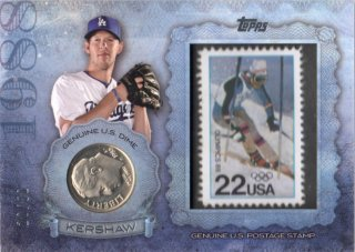 2015 TOPPS Series 2 Birth Year Coin and Stamp Card Kershaw 【50枚限定】 梅田店 マンジール様