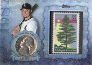 2015 TOPPS Series 2 Birth Year Coin and Stamp Card Abreu 【50枚限定】 梅田店 マンジール様