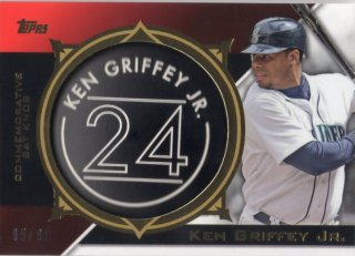 2015 TOPPS Series 2 Commemorative Bat Knob Card (Black) Ken Griffey Jr. 【50枚限定】 梅田店 マンジール様