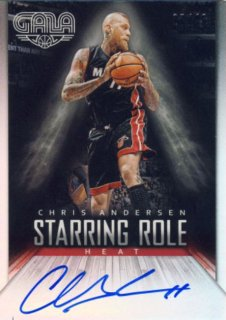 2014-15 PANINI GALA Starring Role Auto Chris Andersen【60枚限定】 Rookie Star RS3様