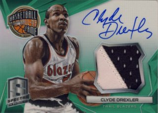 2014-15 PANINI SPECTRA Green Patch Auto Clyde Drexler 【5枚限定】Rookie Star RS11様