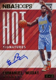 2015-16 PANINI HOOPS Auto Emmanuel Mudiay Rookie Star RS48様