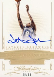 2014-15 PANINI Flawless Auto Latrell Sprewell 【10枚限定】Rookie Star RS9様