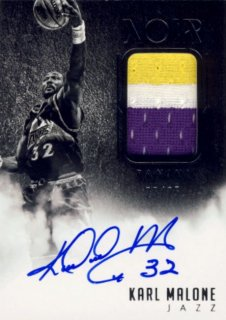 2014-15 PANINI Noir Patch Auto Karl Malone 【25枚限定】Rookie Star RS9様