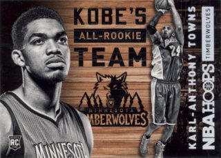 2015-16 PANINI HOOPS Kobe All Rookie Team Karl-Anthony Towns Rookie Star RS6様