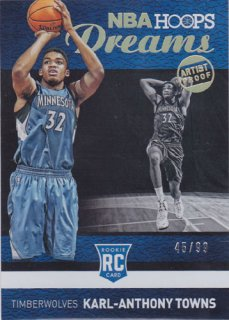 2015-16 Panini Hoops Karl-Anthony Towns NBA Dreams 99枚限定 /ポニーランド F様