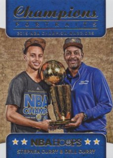 2015-16 PANINI HOOPS CHAMPIONS TROPHY PORTRAITS Stephen Curry & Dell Curry 【99枚限定】 / MINT池袋店 ジョーカー様