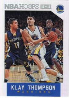 15-16 PANINI HOOPS Base Parallel Card (Sliver) Klay Thompson 【299枚限定】 MINT梅田店 1カートンいったった様