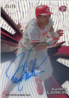 2015 Topps High Tek Autograph Card (Clouds Diffractor) Barry Larkin 【25枚限定】 梅田店 ブラッドオレンジ様