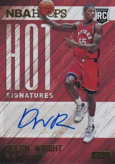 2015-16 PANINI HOOPS BASKETBALL AUTO DELON WRIGHT ホットボックス PG13様