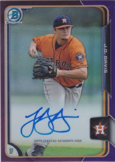 2015 Bowman Chrome J.D Davis Purple Refractor Auto 250枚限定/ ポニーランド Ab様
