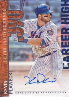 2015 Topps Update Kevin Plawecki Career High Auto ポニーランド MM様